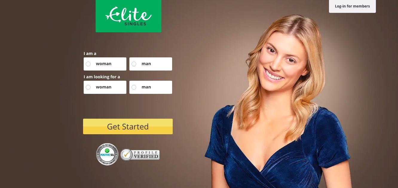 EliteSingles main page